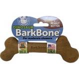 Pet Qwerks -Dinosaur Barkbone With Real Wood - Peanut Butter - Large