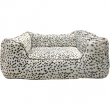 Ethical Fashion - Seasonal - Sleep Zone Snow Leopard Step In Bed - Snow Leopard - 18 Inch