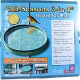Farm Innovators - Wldbrd - All Seasons 3-In-1 Heated Birdbath - Green - 75 Watt