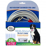 Four Paws - Dog Tie Out Cable - Super Weight - Silver - 20 Feet