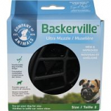 The Company Of Animals -Baskerville Ultra Moldable Muzzle - Black - Size 2