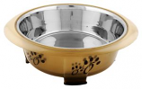 Iconic Pet - Color Splash - Designer Oval Fusion Bowl - Small - Brown - for Dog/Cat - 15 Oz - 2 Cups