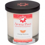 Aroma Paws - Orange Nutmeg Vetiver - Glass Candle In Box - 8 oz