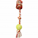 Mammoth Pet Products - Knot Tug W/Tennis Ball - Multi - Large/24 Inch