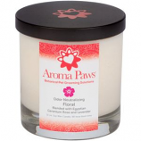 Aroma Paws - Odor Neutralizing Candle Jar - Floral - 12 oz