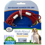 Four Paws - Tie Out Cable - Red - 30 Feet