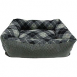 Petmate - Beds - Tartan Plaid Small Lounger - Assorted - 20X15 Inch