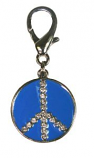 Leather Brothers - Peace Dog Pendant - Blue