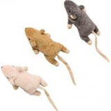 Ethical Cat - Flat Mouse W/Catnip Cat Toy - Assorted - 5.5 In