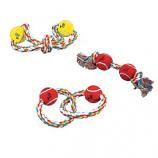 Zanies - Rope Tennis Ball 15Inch Fig 8 2Balls