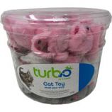 Coastal Pet Products -Turbo Furry Mice Cat Toy Canister - Multi - 90 Piece