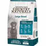 Grandma Mae S Country Nat - Country Naturals Grain Free Lid Large Breed Dog - Turkey - 14Lb