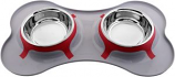 Color Splash - Designer Bone Shape Fusion Diner - Gray - for Dog/Cat - 32 Oz - 4 Cups