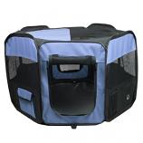 Portable Pet Soft Play Pen - Blue - Medium