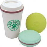 Coastal Pet Products -Li'L Pals Coffee Cup & Cookie Toy Set - Multi - 3.5 Inch