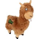 Quaker Pet Group -Godog Buck Tooth Llama Durable Plush Dog Toy - Tan - Large