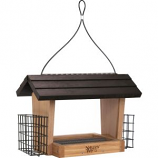 Natures Way Bird Products - Hopper Feeder With Suet Cages - Bamboo - 6 Quart Cap