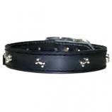 "Leather Brothers - 1/2"" Regular Leather Bone Ornament - Black - 10"" Length"