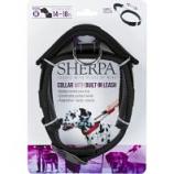 Quaker Pet Group -Sherpa Dog Collar With Built In Leash - Black - Medium