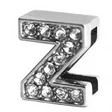 Leather Brothers - Jewel Slider Letter Z - 3 Pkg