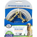 Four Paws - Container - Four Paws Dog Tie Out Cable- Heavyweight - Silver - 20 Ft