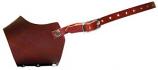 """Leather Brothers - 13.5"""" Leather Muzzle - Xlarge - Burgundy"""