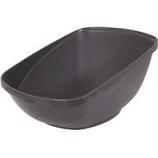 Petmate - Petmate Hi-Back Open Litter Pan - Steel - Jumbo