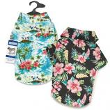 Casual Canine - Hawaiian Breeze Camp Shirt - Small/Medium - Black
