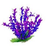 Aquatop Aquatic Supplies  - Aquarium Plant With Weighted Base - 6 Inch - Pink/Purple