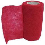 Animal Supplies International - Wrap-It-Up Flex Bandage - Red - 4 Inch x 5 Yard