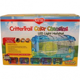 Super Pet - Container-Kaytee Critttrail Led Color Change Habitat - Assorted