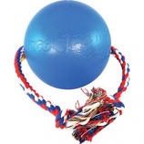 Ethical Dog - Tuggo Ball With Rope - Blue - 7 Inch