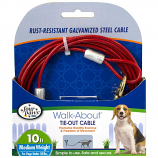 Four Paws - Dog Tie Out Cable - Medium Weight - Red - 10 Feet