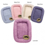 Slumber Pet -  Sherpa Crate Bed - Medium - Sky Blue