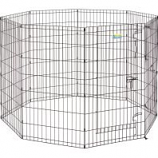 Midwest Container -Contour Exercise Pen With Door - Black - 42 In