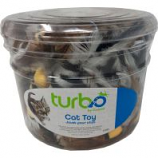 Coastal Pet Products -Turbo Feather Toys Canister - Multi - 51 Piece