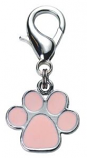 Leather Brothers - Fancy Enamel Paw Pendant - Pink
