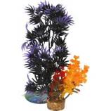 Blue Ribbon Pet Products -Color Burst Florals Large Brush Plants - Black/Purple - Large