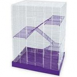 Ware Mfg - Bird/Small Animal -Ware Pet Chew Proof 4-Story Cage - Purple/White