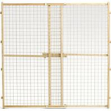 Midwest Homes For Pets - Wood/Wire Mesh Pet Gate - Natural - 44 H X 29-50 W