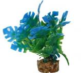 Blue Ribbon Pet Products - Color Burst Florals Philo Leaf - Blue - 1.25X1.25X3.25 Inch