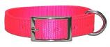 "Leather Brothers - 1"" Regular Bravo Nylon Collar - Neon Pink - 19"" Length"