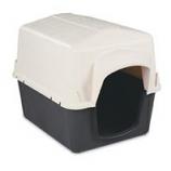 Petmate - Barnhome 3 Dog House - White / Gray - Medium