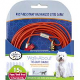 Four Paws - Container - Four Paws Tie Out Cable- Puppy - Orange - 15 Ft