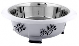 Color Splash - Designer Oval Fusion Bowl - Small - Gray - for Dog/Cat - 15 Oz - 2 Cups