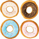 Ethical Dog - Tasty Donuts Plush Toy With Squeaker - Assorted - 7.5 Inch