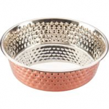 Ethical Ss Dishes -Honeycomb Non Skid Stainless Steel Dish - Copper - 1 Quart