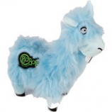 Quaker Pet Group -Godog Buck Tooth Llama Durableplush Dog Toy - Blue - Small