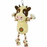 Charming Pet Products - Ranch Roperz Cow Dog Toy - White - Medium