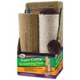 Four Paws - Super Catnip Carpet Sisal Scratching Post - 3 Piece - 21 Inch